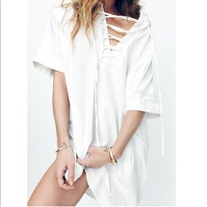 Brand new!! Madewell Beverly Lace-Up Dress